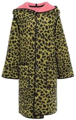 Missoni Reversible Leopard-print Brushed-felt Hooded Coat