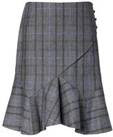 Banana Republic Plaid Paneled Flounce Skirt