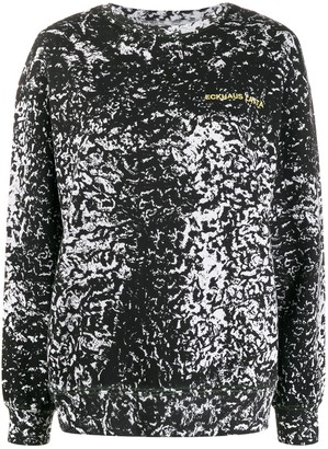 Eckhaus Latta Long Sleeve Abstract Print Sweater