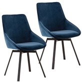 Coleman Upholstered Dining Chair Ivy Bronx Upholstery Color: Blue