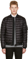 Moncler Black Down Aidan Bomber Jacket