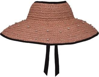 Miu Miu Embellished Straw Hat