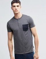French Connection Button T-Shirt with Pocket