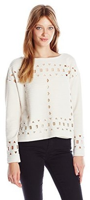 Plenty by Tracy Reese Women's Eyelet Pullover