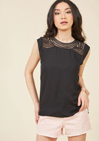 ModCloth Creative Mixer Sleeveless Top in Black in L