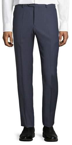 Emporio Armani Micro-Check Straight-Leg Trousers