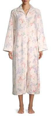 Miss Elaine Floral-Print Fleece Nightgown