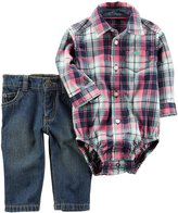 Carter's Baby Boys' 2-Piece Plaid Bodysuit And Jeans Set