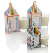 Seda France French Tulip Pagoda Candles with Japanese Quince Mini Pagoda Candle