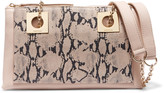 See by Chloe Snake-effect and textured-leather shoulder bag