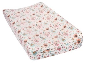 Trend Lab Playful Elephants Flannel Changing Pad Cover Bedding