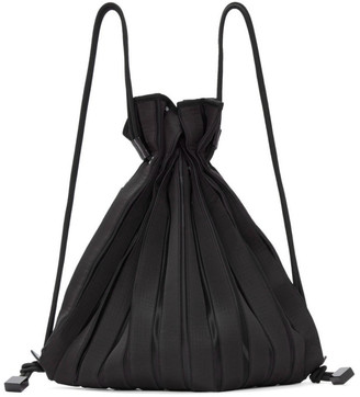 Issey Miyake Black Linear Knit Backpack