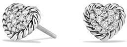 David Yurman 8mm Valentine Hearts Diamond Chatelaine Earrings