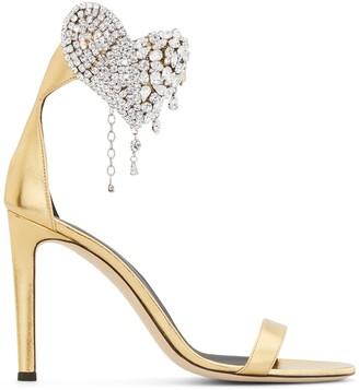 Giuseppe Zanotti Amour embellished heart sandals