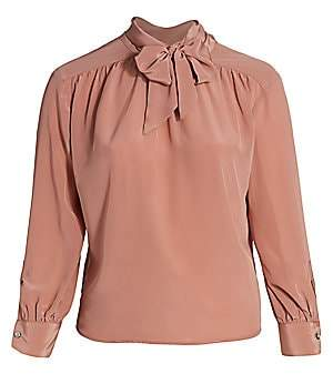 Baacal, Plus Size Women's Marion Tie-Neck Silk Blouse