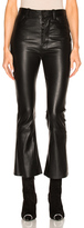 Unravel Crop Flare Leather Pants in Black.