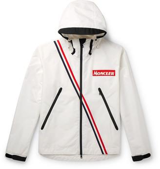 Moncler Trakehner Striped Nylon Hooded Jacket