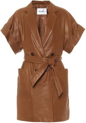 Max Mara Navata leather jacket