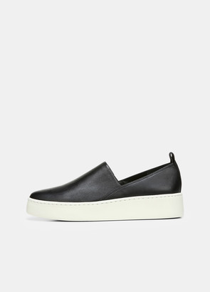 Vince Leather Saxon-2 Slip On Sneaker