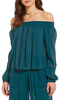 Band of Gypsies Off-the-Shoulder Smocked Blouse