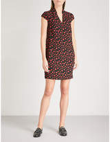 Whistles Paige spotted crepe dress