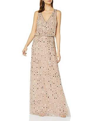 Frock and Frill Women's Gaby Embellished Maxi Dress Party,(Size:UK )