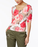 INC International Concepts Petite Floral-Print Cardigan, Created for Macy's