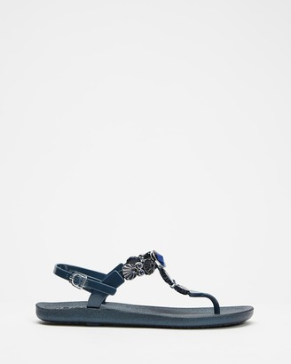 Holster Women's Navy Flat Sandals - Malibu - Size One Size, 11 at The Iconic