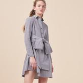 Maje Gingham printed shirt dress