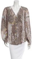 Just Cavalli Silk Cheetah Print Top w/ Tags