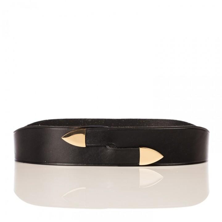Linea Pelle Avery Wrap Waist Belt with Metal Tips