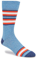 Daniel Cremieux Bordered Stripe Crew Dress Socks