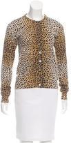 Dolce & Gabbana Leopard Print Button-Up Cardigan