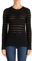 J Brand Women's Colony Open Stitch Sweater
