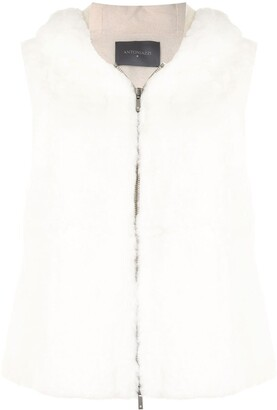 Lorena Antoniazzi Sleeveless Fur Gilet