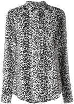 Saint Laurent classic petite leopard print shirt