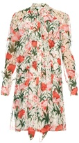 Erdem Stevie Carnation-print silk-voile dress