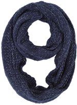 TrendsBlue Premium Winter Glitter Knit Infinity Loop Circle Scarf