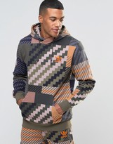 adidas Mad Plaid Hoodie In Green AY9298