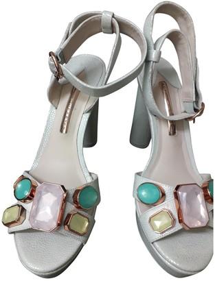 Sophia Webster Turquoise Leather Heels