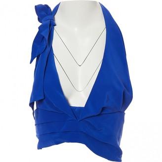 Paper London Blue Silk Top for Women