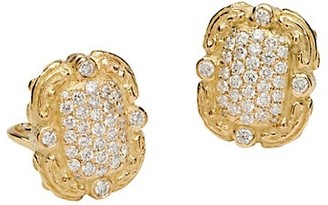Katy Briscoe Coskey's Column 18K Yellow Gold & Diamond Earrings