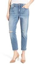 Women's Parker Smith Stretch Roll Cuff Girlfriend Jeans