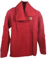 Carraigdonn 100% Wool Carraig Donn Ladies Patchwork Cardigan Natural