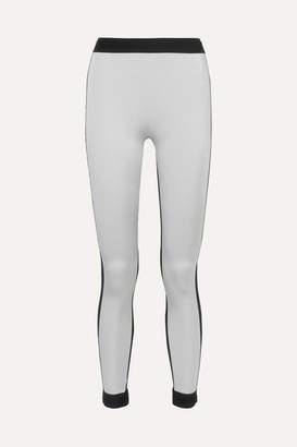 NO KA 'OI No Ka'oi NO KA'OI - Mahina Kala Metallic Stretch Leggings - Silver