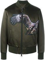 Neil Barrett eagle print bomber jacket - men - Polyamide/Acetate/Viscose/Polyester - S