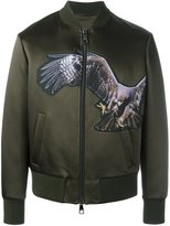 Neil Barrett eagle print bomber jacket - men - Polyamide/Polyester/Acetate/Viscose - S