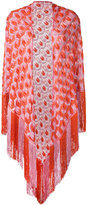 Missoni patterned tassel cape