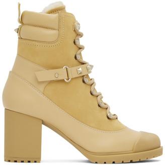Valentino Tan Garavani Rockstud Heeled Boots