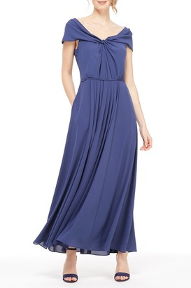 Gal Meets Glam Sandra Off-The-Shoulder Maxi Dress